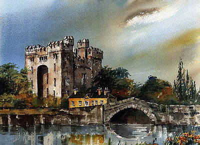 Painting - Bunratty Castle  Clare by Val Byrne