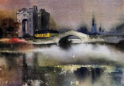 Painting - Bunratty Castle In Clare by Val Byrne