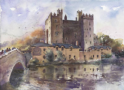 Bunratty Castle Reflections County Clare Art Print by Keith Thompson