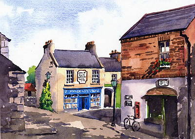 Painting - Clare  Bunratty Folk Village  by Val Byrne