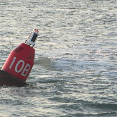 Marker Photograph - Buoy At Hatteras by Cathy Lindsey