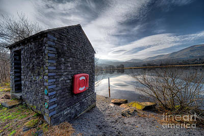 Buoy At Lake Print by Adrian Evans