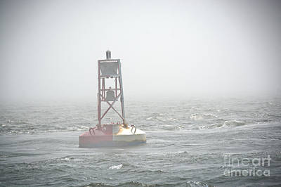 Photograph - Buoy In The Fog by Cheryl Baxter