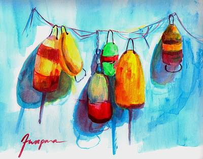 Guides Painting - Colorful Buoys by Patricia Awapara