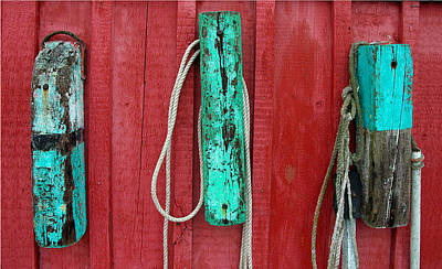 Photograph - Buoys At Rockport Motif Number One by Jon Holiday
