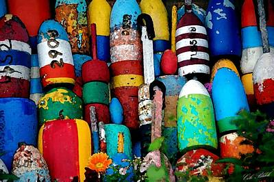 Painting - Buoys  by Cole Black