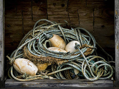 Netting Photograph - Buoys In A Box by Carol Leigh