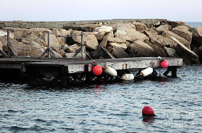 Photograph - Buoys On The Dock by John Rizzuto