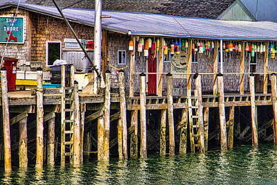 Buoys On The Pier Art Print by Steven Bateson