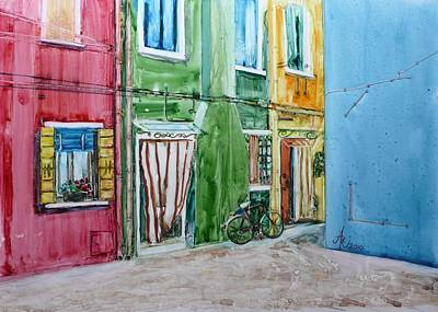 Painting - Burano by Anna Ruzsan