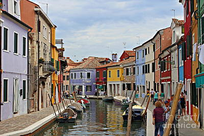 Photograph - Burano Island by Cendrine Marrouat