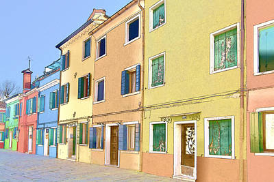Photograph - Burano Island Italy by Indiana Zuckerman