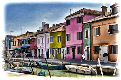 Venecia Photograph - Burano Italy - Colorful Homes by Jon Berghoff