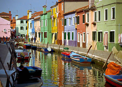 Photograph - Burano Reflections by Jenny Setchell