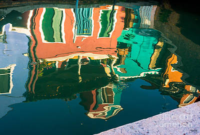 Photograph - Burano Reflections by Prints of Italy