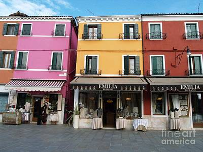 Art Print featuring the painting Burano by Robin Maria Pedrero