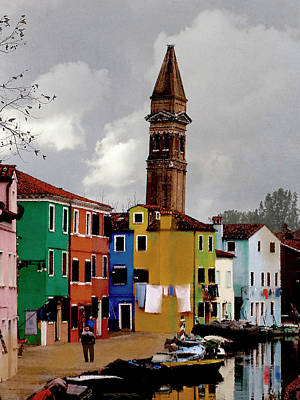 Burano Tower Art Print