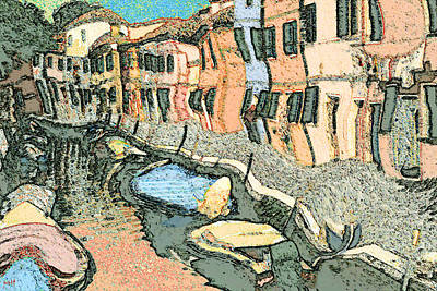 Painting - Burano Canal - Modern Art by Art America Gallery Peter Potter