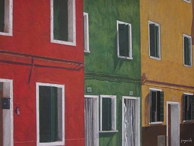 Painting - Burano...island Of Color by Harvey Rogosin