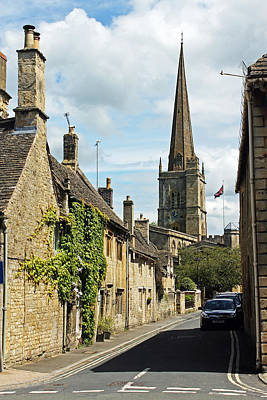 Burford Village Street Art Print