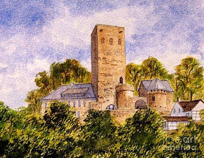 Painting - Burg Blankenstein Hattingen Germany by Bill Holkham