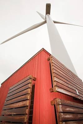 Grey Clouds Photograph - Burgar Hill Wind Farm by Ashley Cooper
