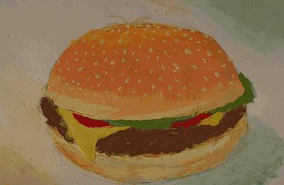 Painting - Burger by Isusko Goldaraz