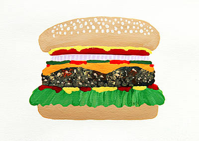 Hamburger Painting - Burger Me by Andee Design