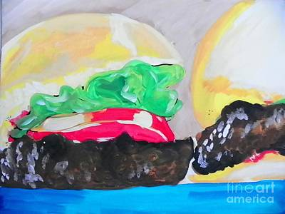 Painting - Burgers by Marisela Mungia
