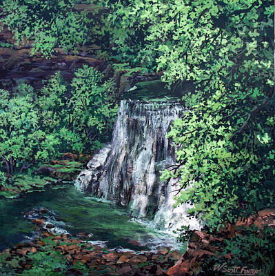 Painting - Burgess Falls State Park Tn. by W  Scott Fenton