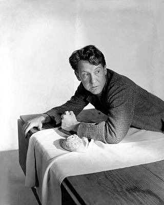 Burgess Meredith Eating A Loaf Of Bread Art Print by Horst P. Horst