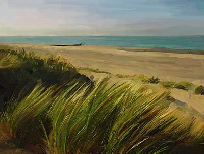 Nederland Painting - Burgh Haamstede Beach In Zeeland by Nop Briex