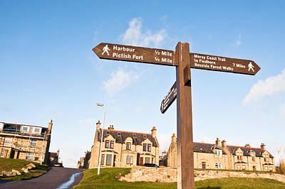 Burghead Signpost Art Print