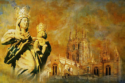 Granada Painting - Burgos Cathedral by Catf