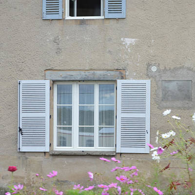 Photograph - White And Blue Shutters by Cheryl Miller
