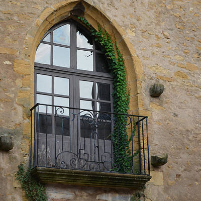 Burgundy Window Art Print by Cheryl Miller