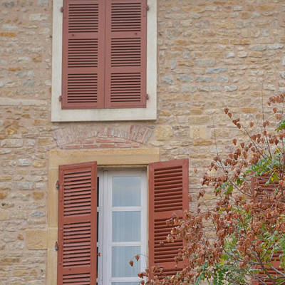 Photograph - Rust Coloured Shutters by Cheryl Miller