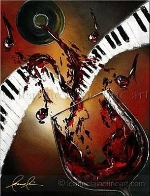 Wine Rack Painting - Burgundy Keys Wine Art Painting by Leanne Laine