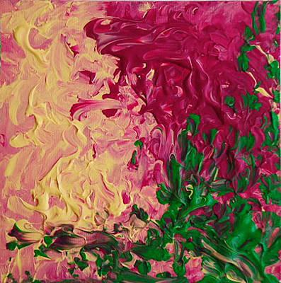 Mixed Media - Burgundy Rose Nobbio by Luz Elena Aponte