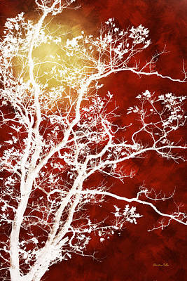 Burgundy Tree Art Art Print