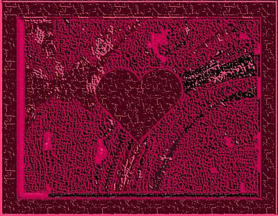 Burgundy Valentine Carved In Stone Art Print