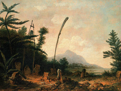 Burial Grounds Painting - Burial Ground In The South Seas, John Webber by Litz Collection