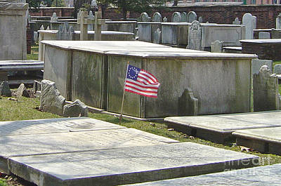 Old Burial Grounds Philadelphia Print by Pam Schmitt