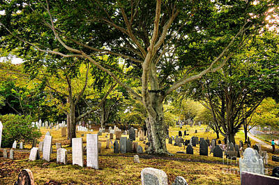 Photograph - Burial Hill Cemetery-2 by Nancie DeMellia