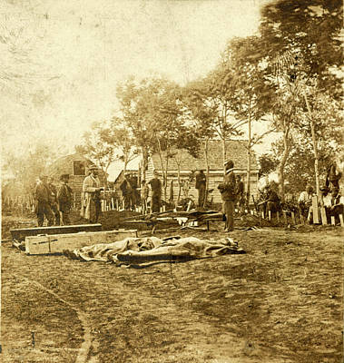 Burial Of The Union Dead At Fredericksburg Print by Litz Collection