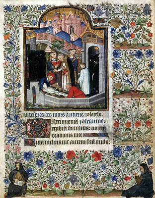 Literature Painting - Burial Scene, C1445 by Granger