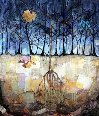 Fabric Mixed Media - Buried Dreams by Sadeyedartist Baltimore