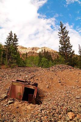 Silverton Colorado Photograph - Buried Mining Equipment by Jeff Swan