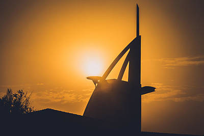 burj Al Arab Hotel  Hotel during sunset Original by Ahmed Rashed
