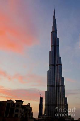 Places Digital Art - Burj Khalifa At Dusk by Pravine Chester